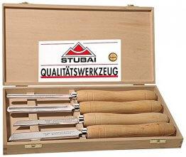 Stubai HSS-Drechseleisen Langholz in Holzkass, 4-teilig 709204